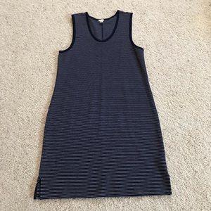 J. Crew, Navy & White Striped Sleeveless Dress!